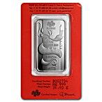 PAMP Lunar Series 2012 Silver Bar - Year of the Dragon - 1 oz thumbnail