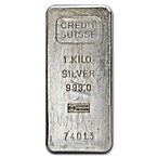 Credit Suisse Vintage Silver Bar - 1 kg thumbnail