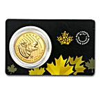 Canada Gold Howling Wolf 2014 - 1 oz thumbnail