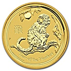 Australian Gold Lunar Series 2016 - Year of the Monkey - 1/2 oz thumbnail