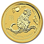 Australian Gold Lunar Series 2016 - Year of the Monkey - 1/4 oz thumbnail