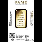PAMP Gold Bar - 2 Tolas thumbnail