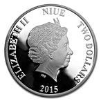 Niue Silver Endangered Species Pygmy Hippopotamus 2015 - 1 oz thumbnail