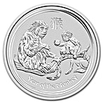Australian Silver Lunar Series 2016 - Year of the Monkey - 10 oz thumbnail