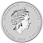 Australian Silver Lunar Series 2016 - Year of the Monkey - 1 kg thumbnail