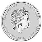 Australian Silver Lunar Series 2016 - Year of the Monkey - 2 oz thumbnail