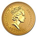 Australian Gold Kangaroo Nugget 1990 - 1/2 oz thumbnail