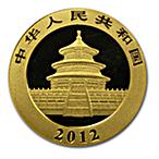 Chinese Gold Panda 2012 - 1/10 oz thumbnail