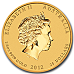 Australian Gold Lunar Series 2012 - Year of the Dragon - 1/4 oz thumbnail