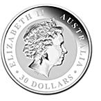 Australian Silver Kookaburra 2011 - 1 kg thumbnail