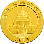 Chinese Gold Panda 2013 - 1/2 oz thumbnail