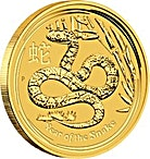 Australian Gold Lunar Series 2013 - Year of the Snake - 2 oz thumbnail