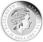 Australian Silver Kookaburra 2013 - 1 kg thumbnail