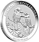 Australian Silver Kookaburra 2013 - 10 oz  thumbnail