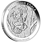 Australian Silver Koala 2013 - 1/2 oz thumbnail