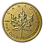 Canadian Gold Maple 2013 - 1/2 oz thumbnail