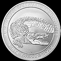 Australian Silver Saltwater Crocodile 2014 - 1 oz