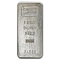 Credit Suisse Vintage Silver Bar - 1 kg