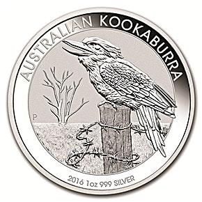 Australian Silver Kookaburra 2016 - 1 oz