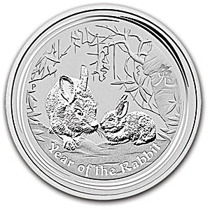 Australian Silver Lunar Series 2011 - Year of the Rabbit - 1 kg