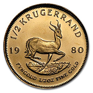 South African Krugerrand - Various years - 1/2 oz