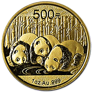 Chinese Gold Panda 2013 - 1 oz