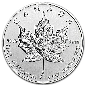Canadian Platinum Maple Leaf 2015 - 1 oz