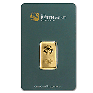Perth Mint Gold Bar (Green) - 5 g
