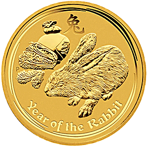 Australian Gold Lunar Series 2011 - Year of the Rabbit - 2 oz