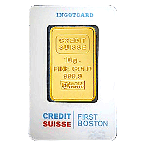 Credit Suisse Gold Bar - First Boston - 10 g