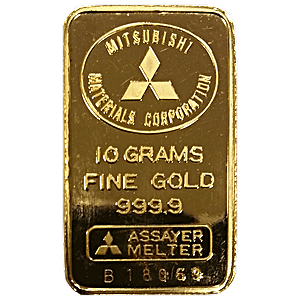 Mitsubishi Gold Bar 10 G Bullionstar Singapore