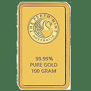 Perth Mint Gold Bar - Green - 100 g