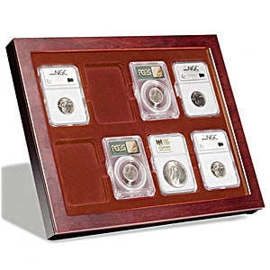 Coin showcase Louvre, for 8 slabs