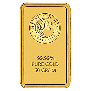 Perth Mint Gold Bar - Green - 50 g