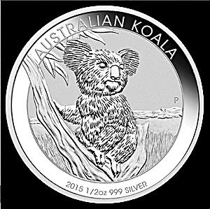 Australian Silver Koala 2015 - 1/2 oz
