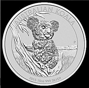 Australian Silver Koala 2015 - 10 oz