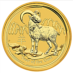 Australian Gold Lunar Series 2015 - Year of the Goat - 1/20 oz
