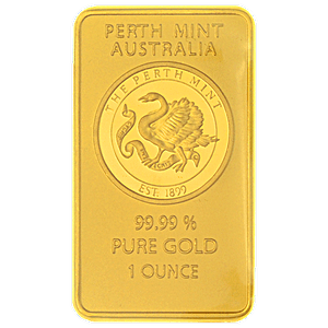 Perth Mint Gold Bar Old Style Swan 1 Oz Bullionstar