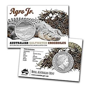 Royal Australian Mint Silver Saltwater Crocodile Series 2015 - Agro Jr - 1 oz