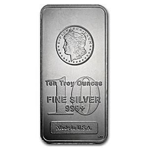 Morgan Silver Bar - 10 oz