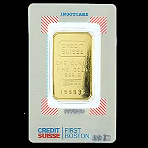 Credit Suisse First Boston Gold Bar 1 Oz Bullionstar