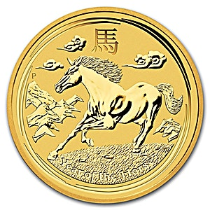 Australian Gold Lunar Series 2014 - Year of the Horse - 1/2 oz