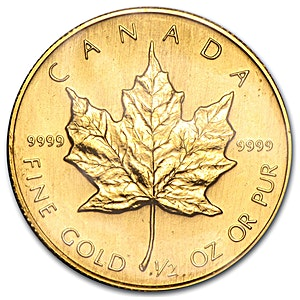 Canadian Gold Maple 1987 - 1/2 oz