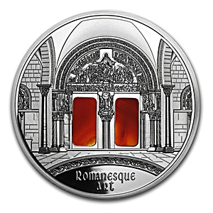 Niue 2014 Silver Art that changed the world 2014  - Romanesque  - 3 oz