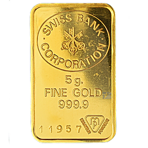 Gold Bar (Various Brands) - LBMA - 5 g