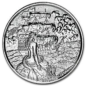 The Siren Silver Round - Circulated in good condition - 2 oz