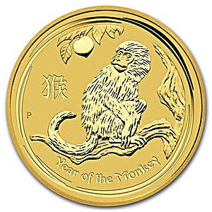 Australian Gold Lunar Series 2016 - Year of the Monkey - 1/4 oz