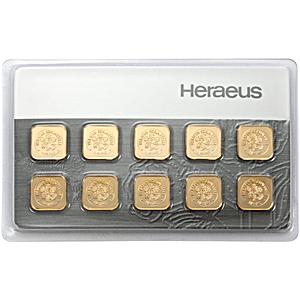 Heraeus Gold Bar - Multicard - 10x1 g