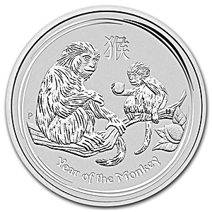 Australian Silver Lunar Series 2016 - Year of the Monkey - 2 oz