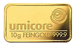 Umicore Gold Bar - Circulated in good condition - 10 g